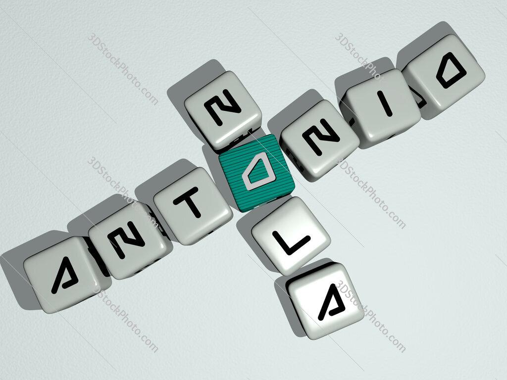 Antonio Nola crossword by cubic dice letters