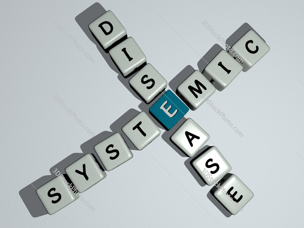 Systemic disease crossword by cubic dice letters