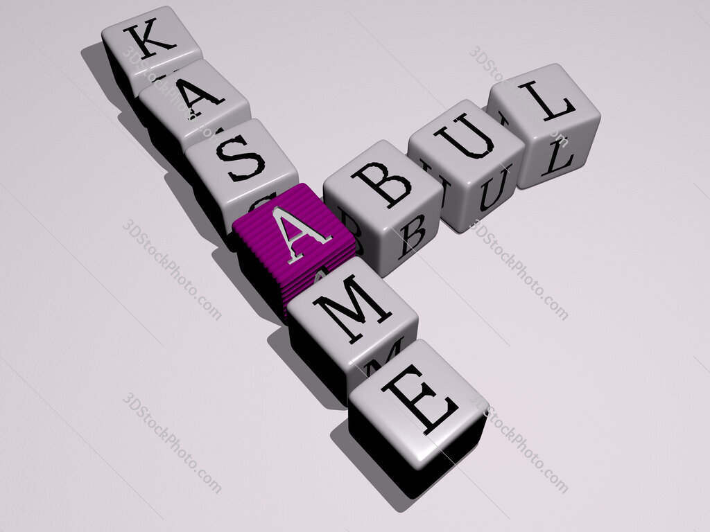 Abul Kasame crossword by cubic dice letters
