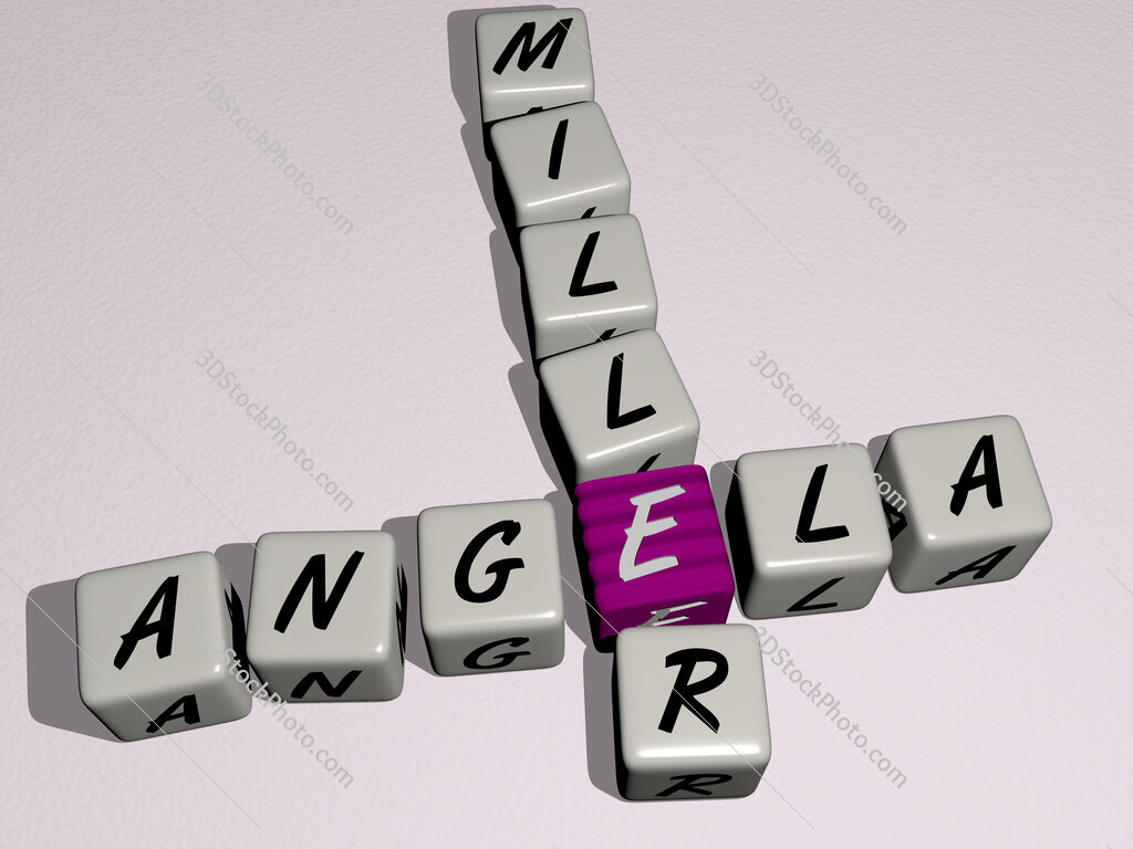 Angela Miller crossword by cubic dice letters