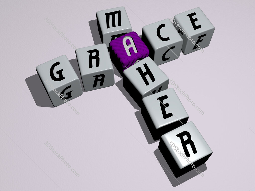 Grace Maher crossword by cubic dice letters
