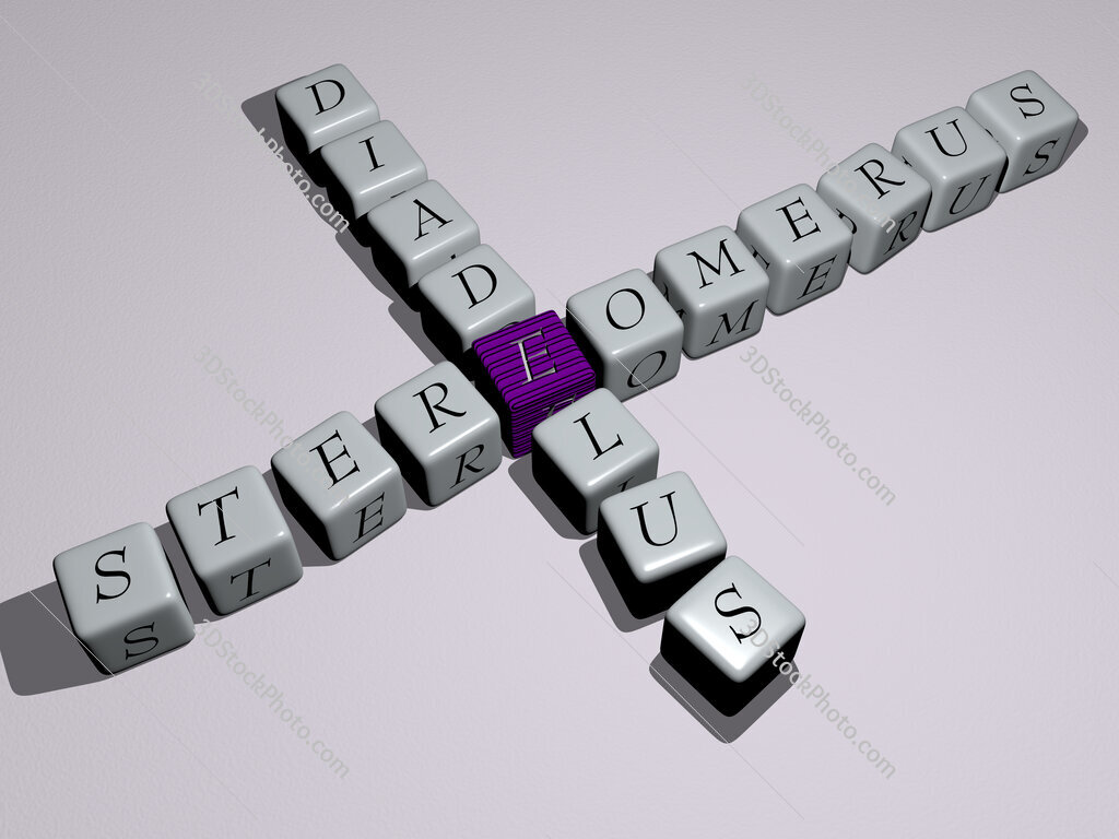 Stereomerus diadelus crossword by cubic dice letters