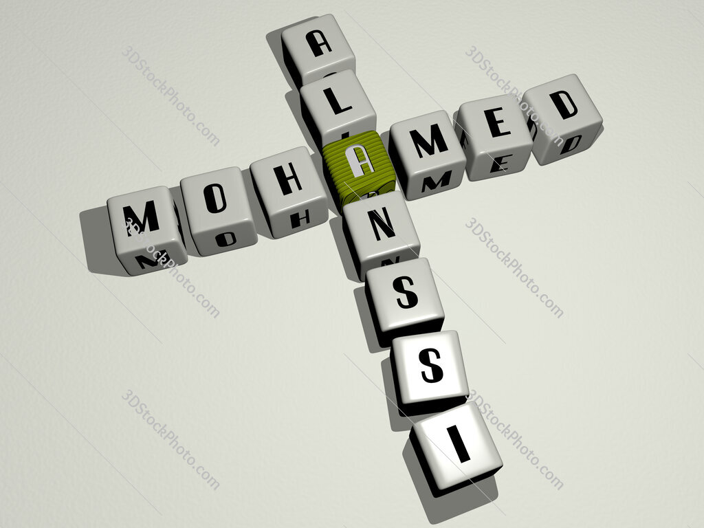 Mohamed Alanssi crossword by cubic dice letters