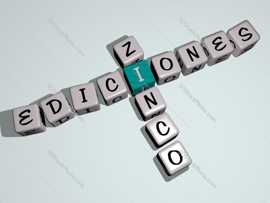 Ediciones Zinco crossword by cubic dice letters