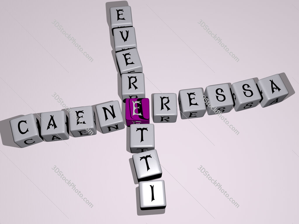 Caeneressa everetti crossword by cubic dice letters