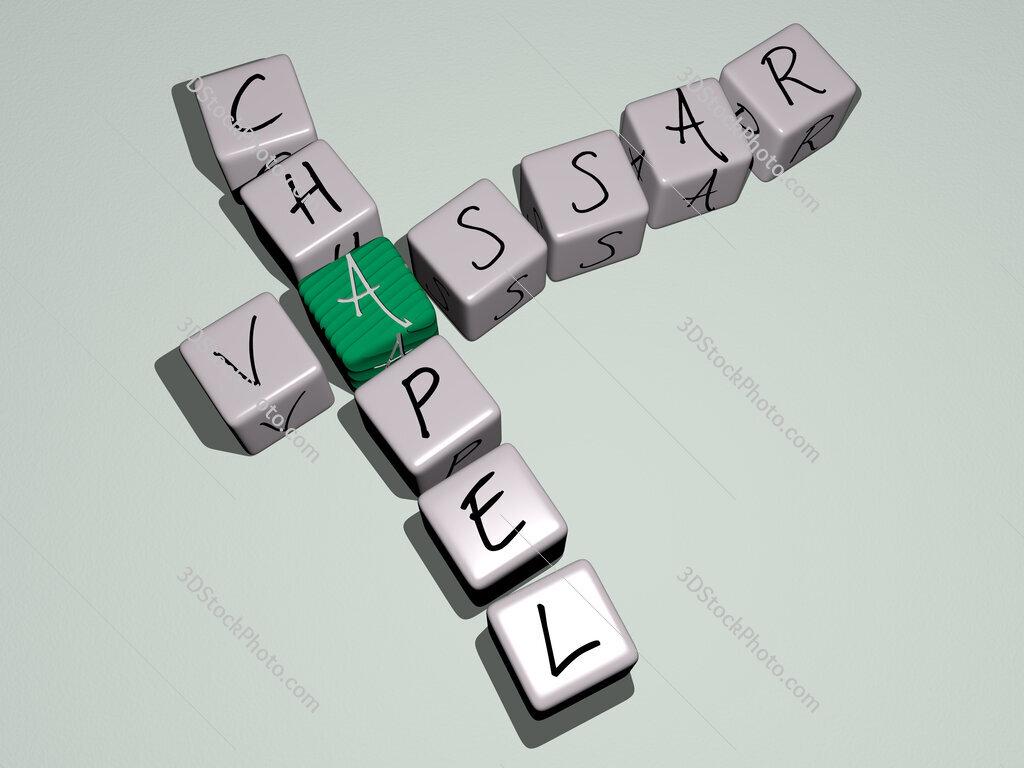 Vassar Chapel crossword by cubic dice letters