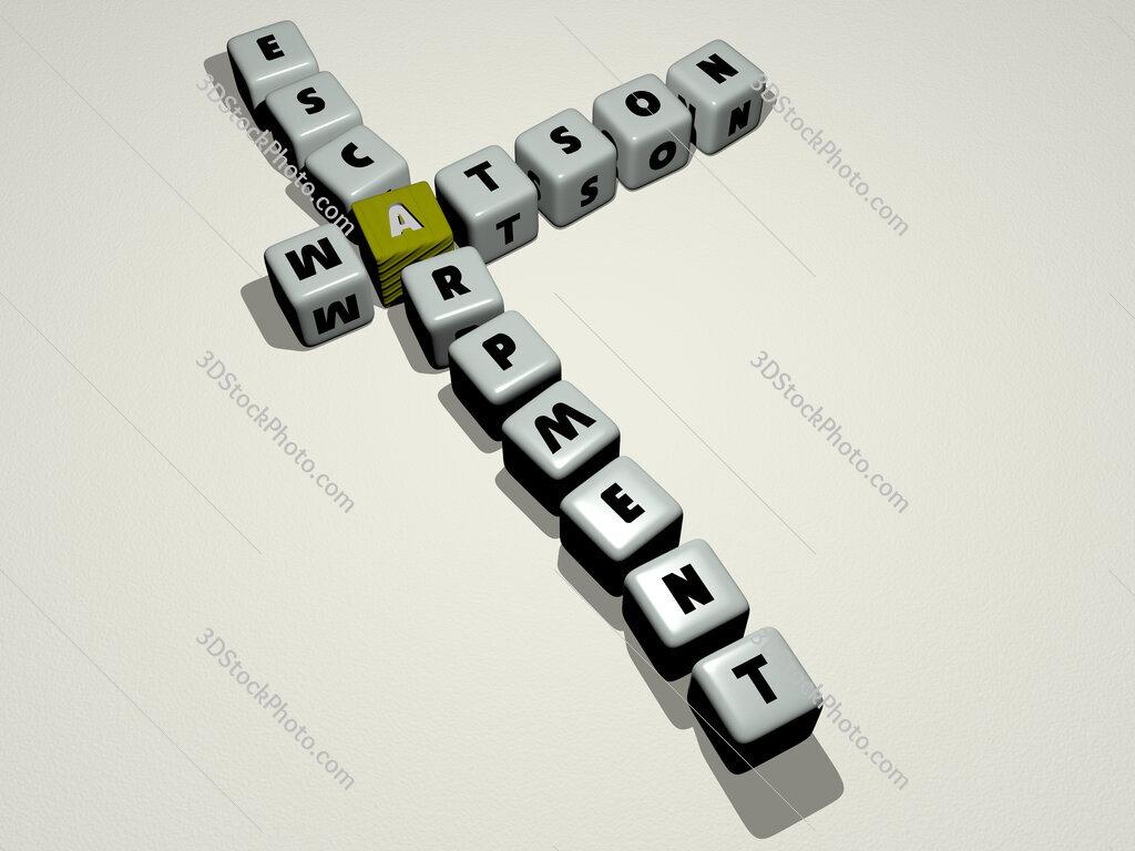 Watson Escarpment crossword by cubic dice letters