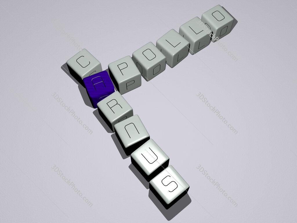 Apollo Carnus crossword by cubic dice letters