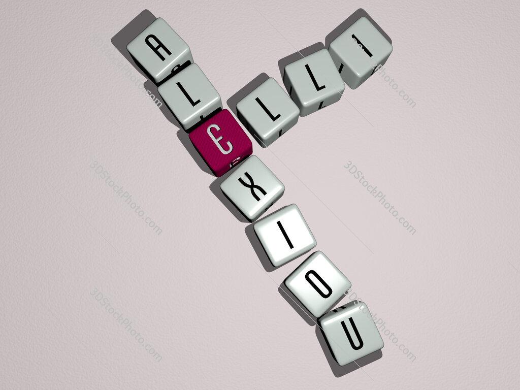 Elli Alexiou crossword by cubic dice letters