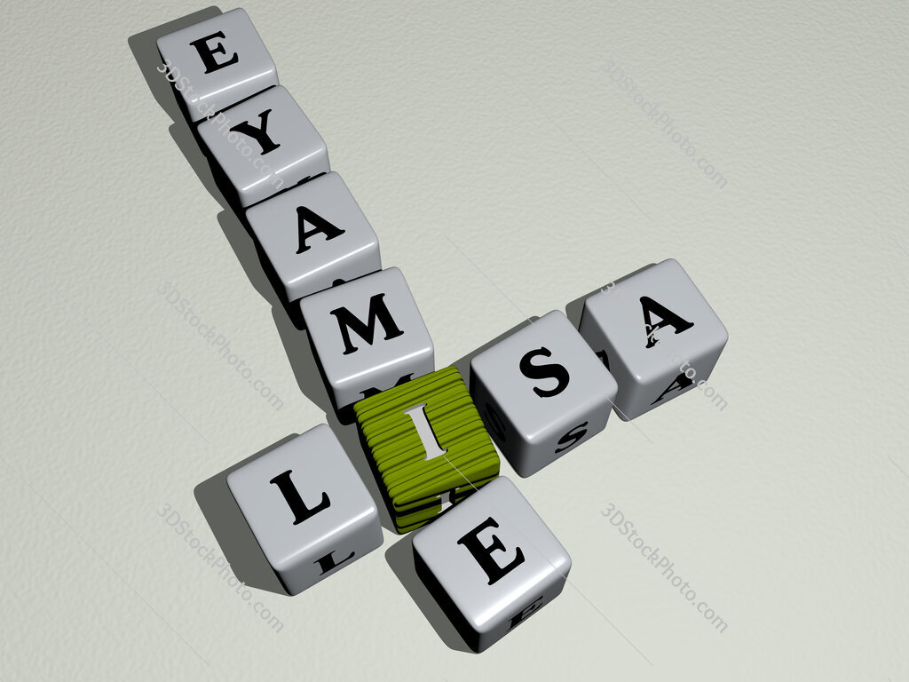 Lisa Eyamie crossword by cubic dice letters