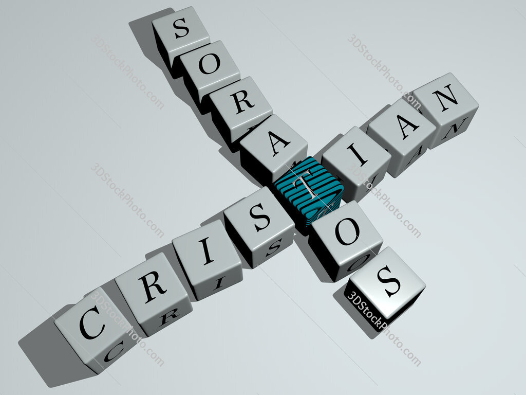 Cristian Soratos crossword by cubic dice letters