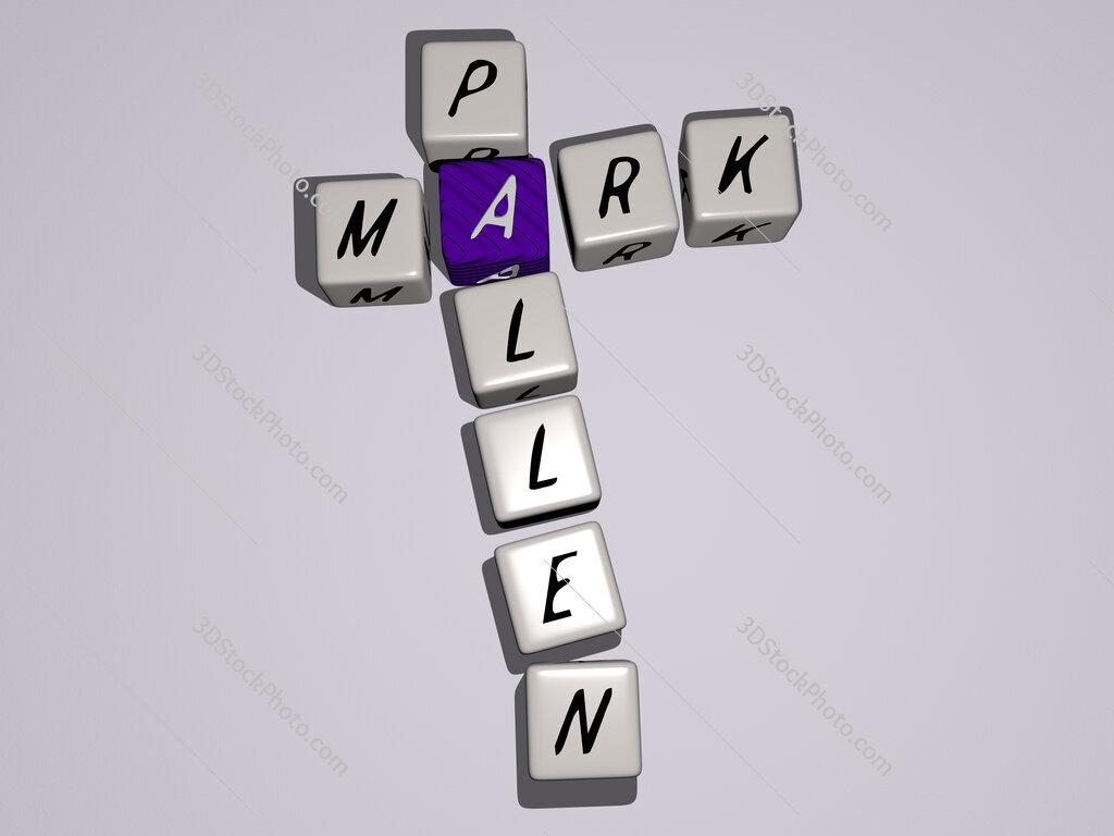 Mark Pallen crossword by cubic dice letters