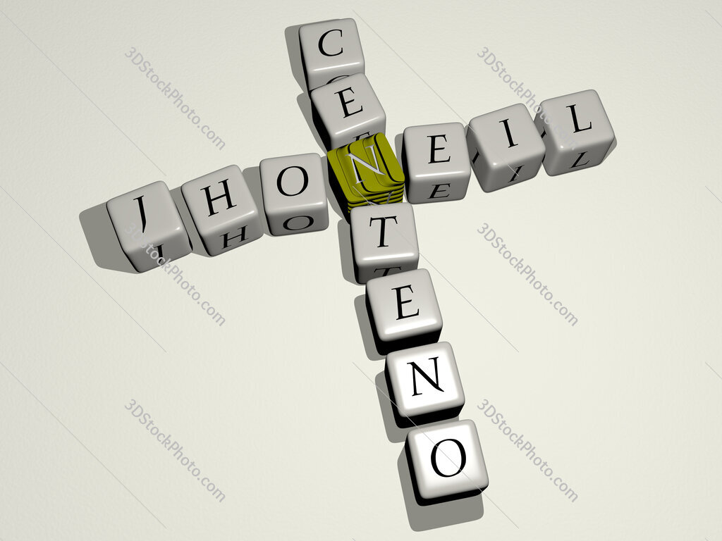 Jhoneil Centeno crossword by cubic dice letters