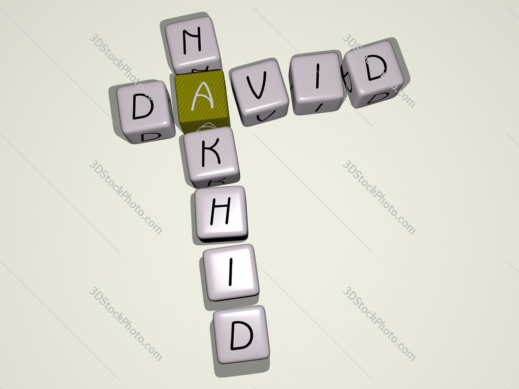 David Nakhid crossword by cubic dice letters