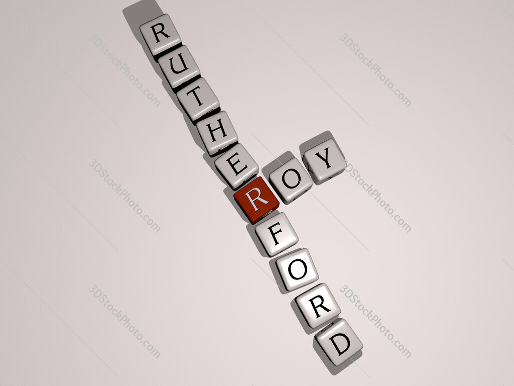 Roy Rutherford crossword by cubic dice letters
