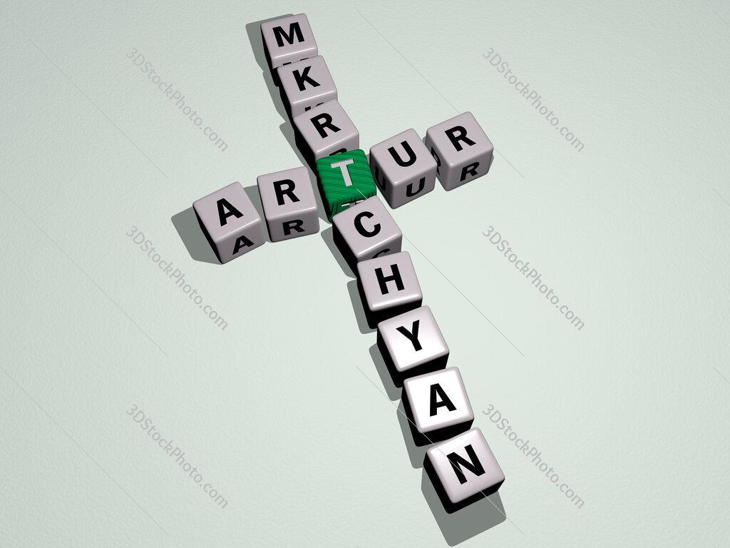 Artur Mkrtchyan crossword by cubic dice letters