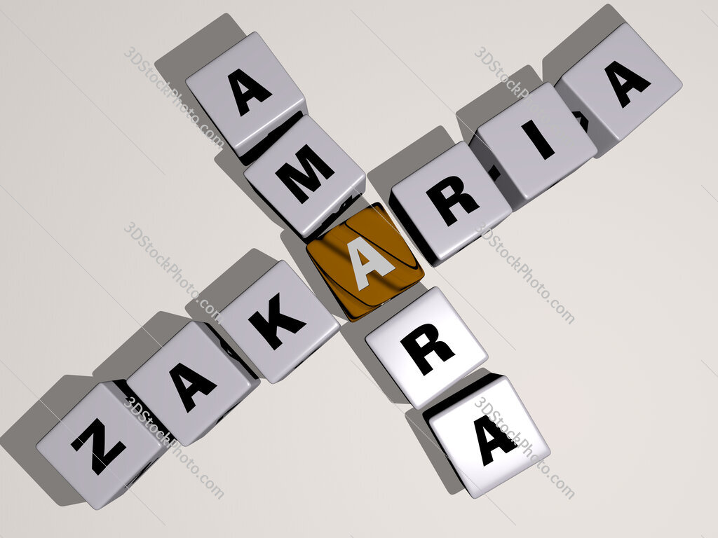 Zakaria Amara crossword by cubic dice letters