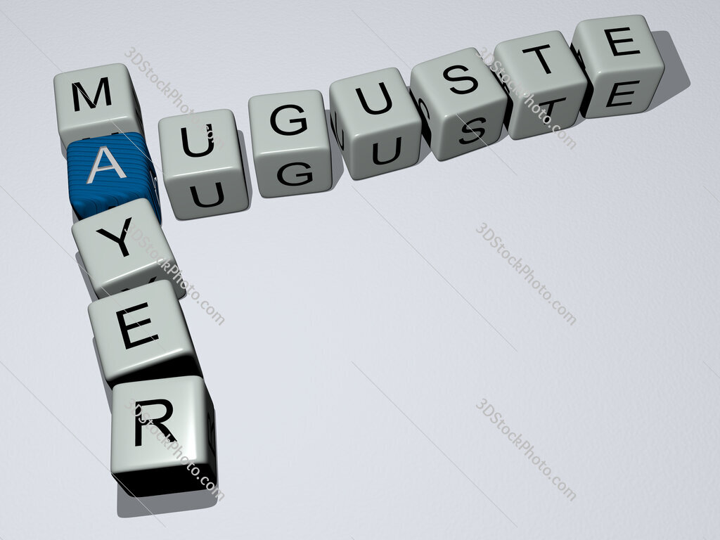 Auguste Mayer crossword by cubic dice letters