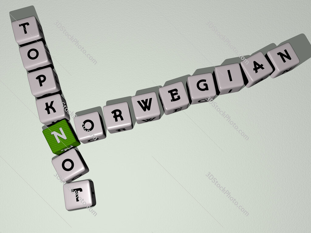 Norwegian topknot crossword by cubic dice letters