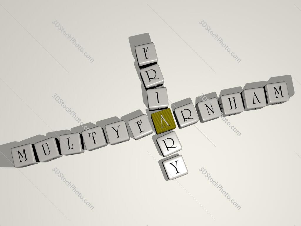 Multyfarnham Friary crossword by cubic dice letters