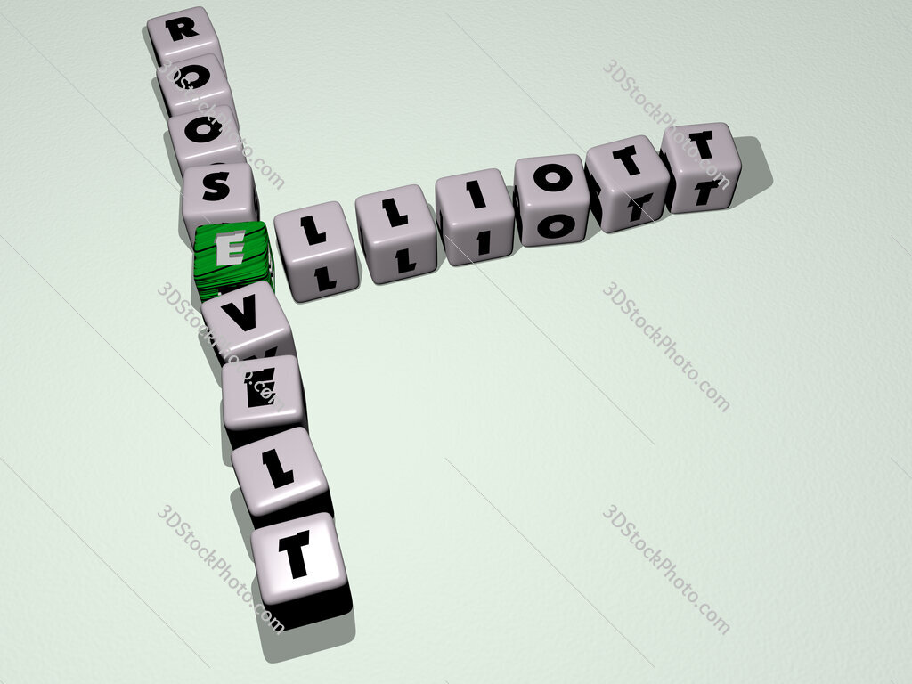 Elliott Roosevelt crossword by cubic dice letters