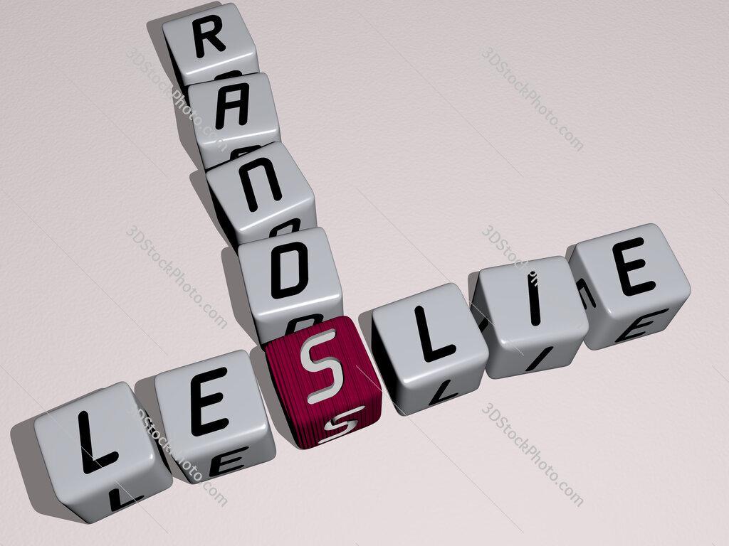 Leslie Rands crossword by cubic dice letters