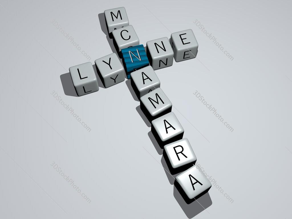 Lynne McNamara crossword by cubic dice letters