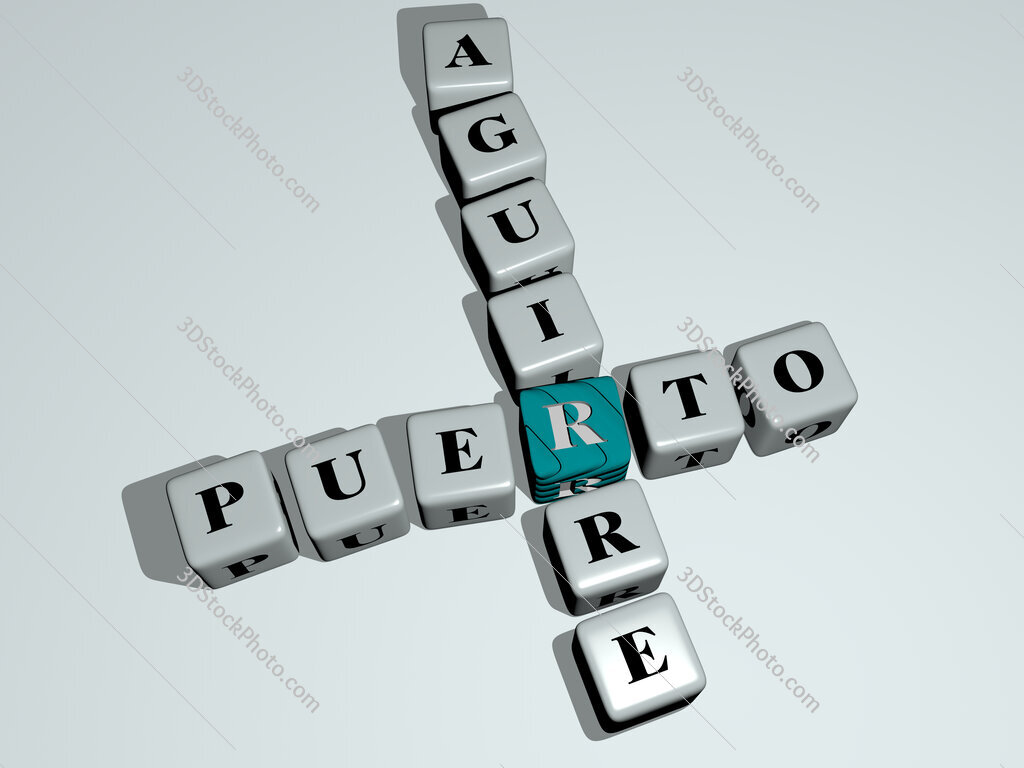 Puerto Aguirre crossword by cubic dice letters