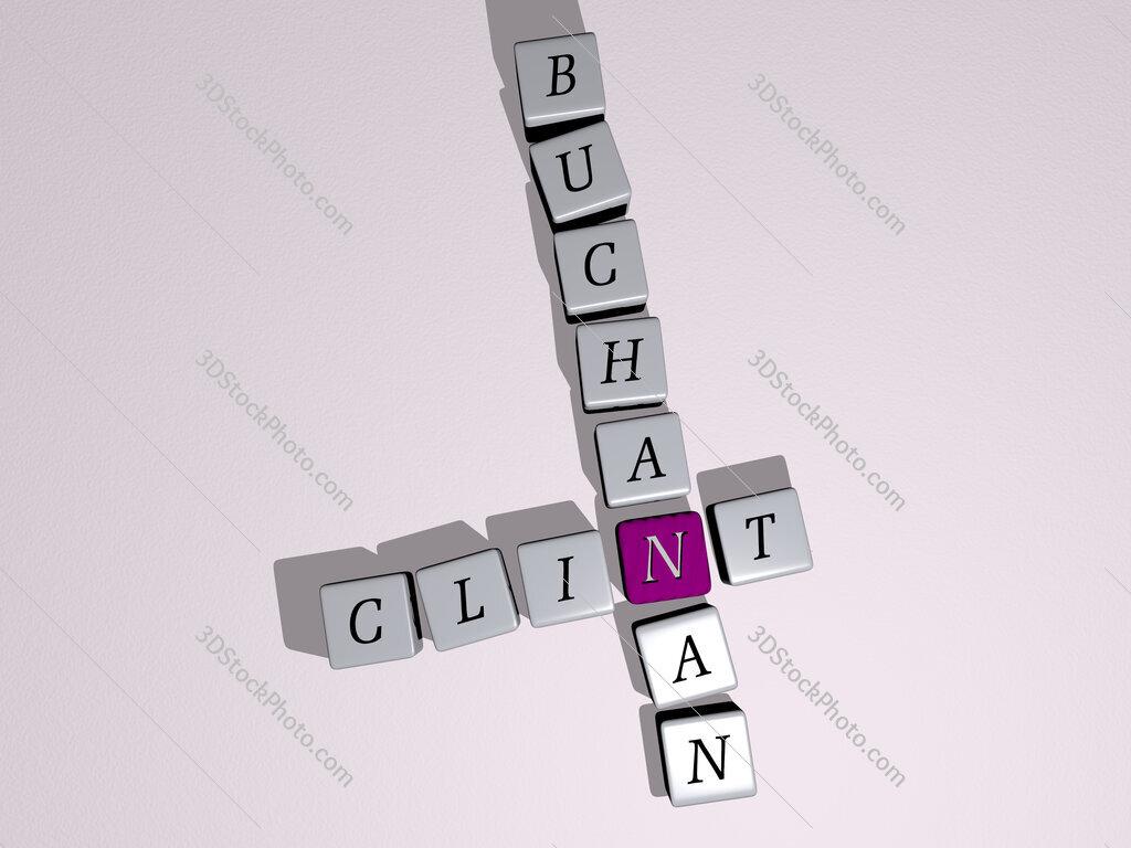 Clint Buchanan crossword by cubic dice letters