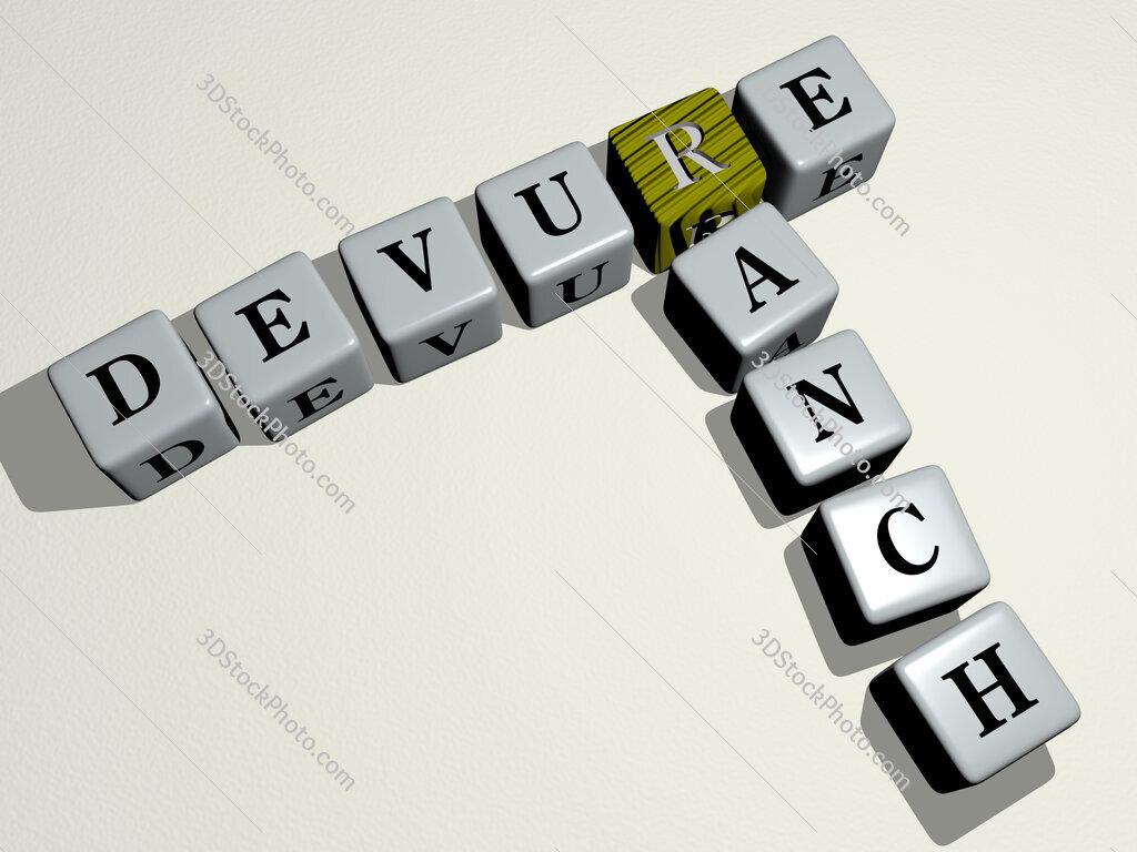 Devure Ranch crossword by cubic dice letters