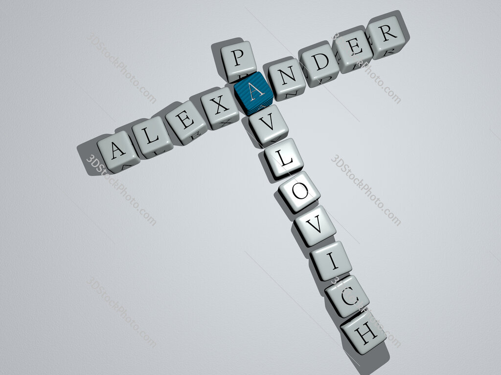 Alexander Pavlovich crossword by cubic dice letters