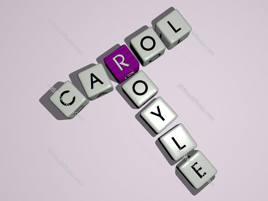 Carol Royle crossword by cubic dice letters