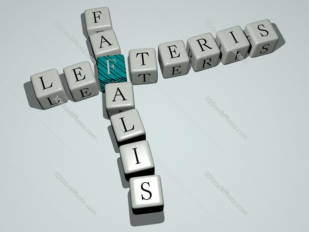 Lefteris Fafalis crossword by cubic dice letters