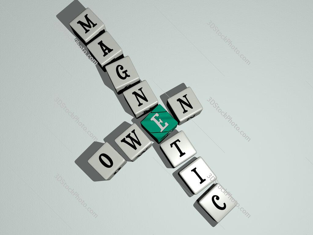 Owen Magnetic crossword by cubic dice letters