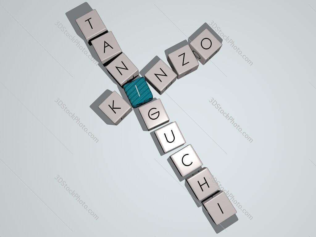 Kinzo Taniguchi crossword by cubic dice letters