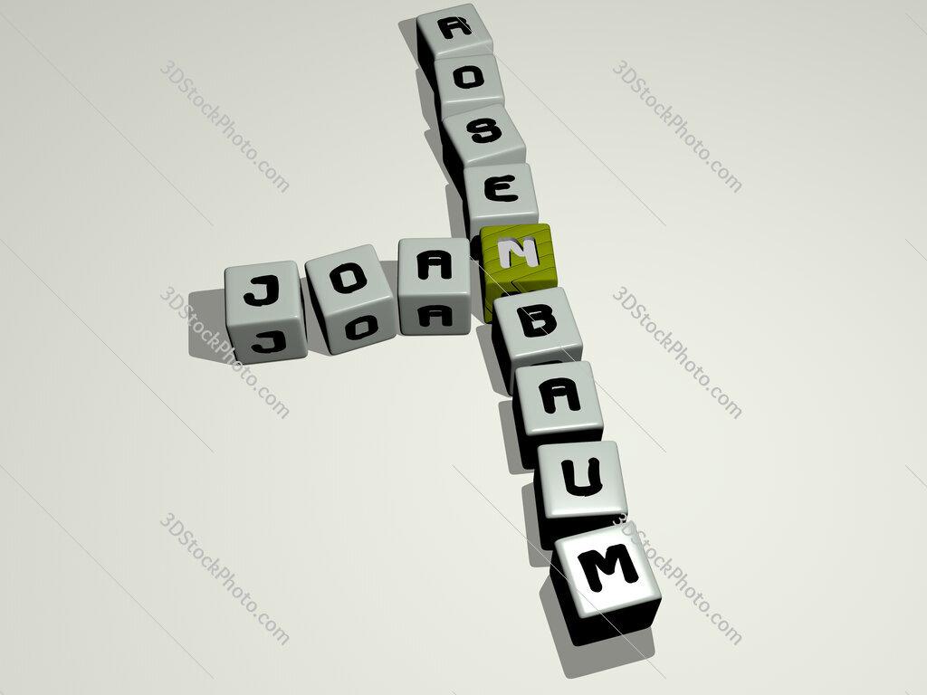 Joan Rosenbaum crossword by cubic dice letters
