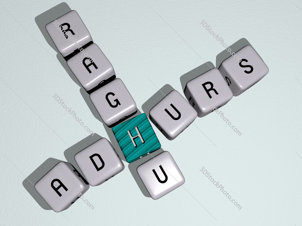 Adhurs Raghu crossword by cubic dice letters