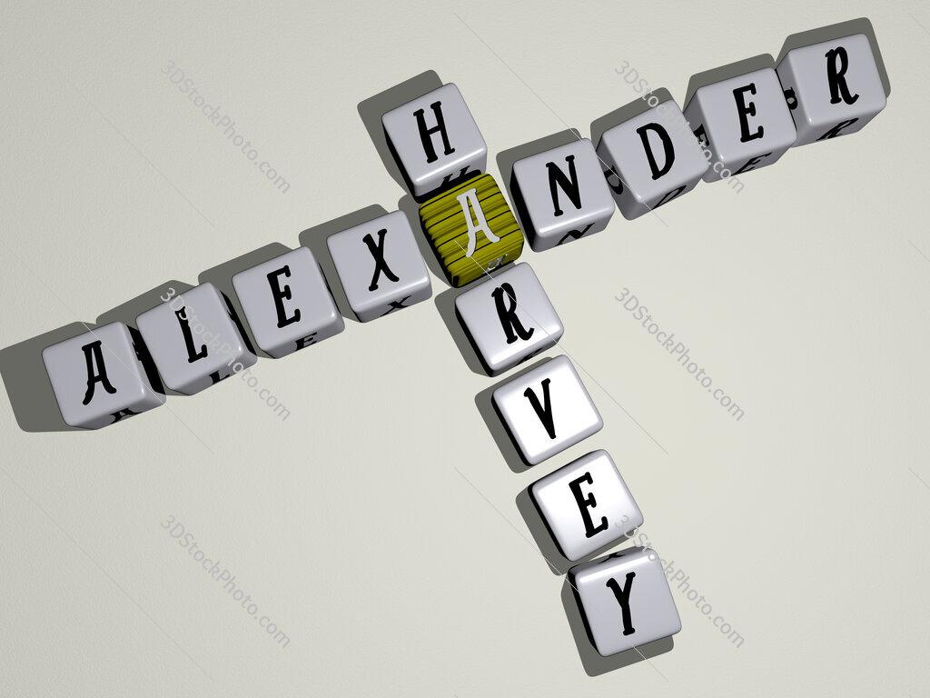 Alexander Harvey crossword by cubic dice letters