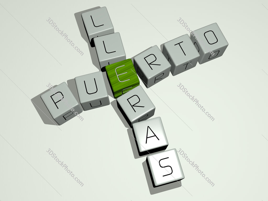 Puerto Lleras crossword by cubic dice letters