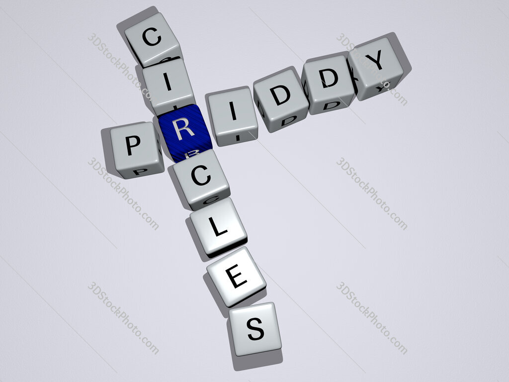 Priddy Circles crossword by cubic dice letters