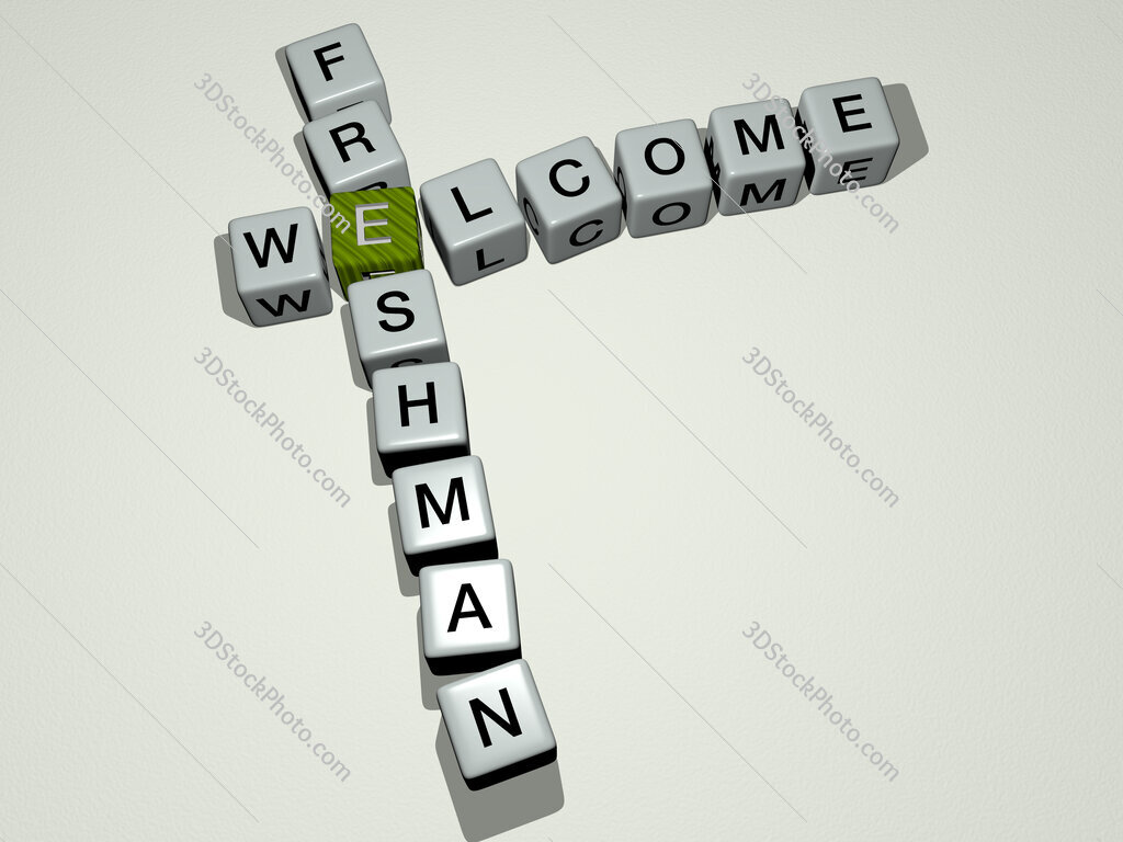 Welcome Freshman crossword by cubic dice letters