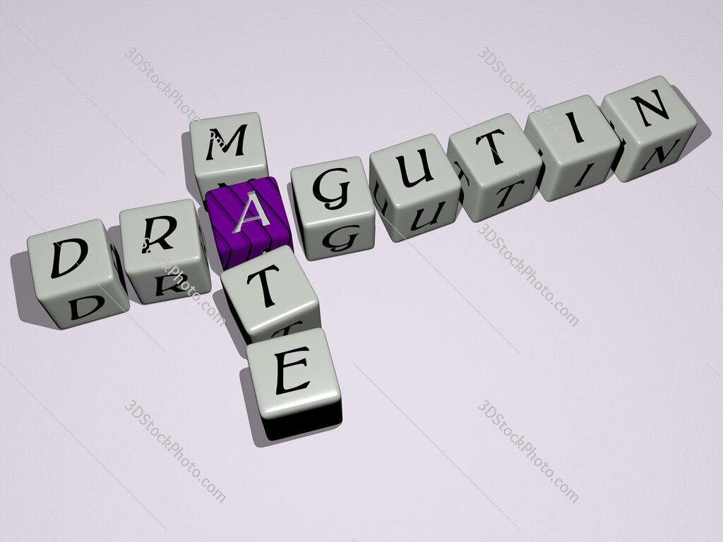 Dragutin Mate crossword by cubic dice letters