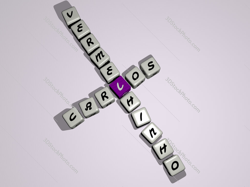 Carlos Vermelhinho crossword by cubic dice letters