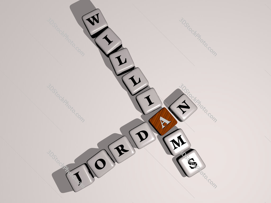Jordan Williams crossword by cubic dice letters