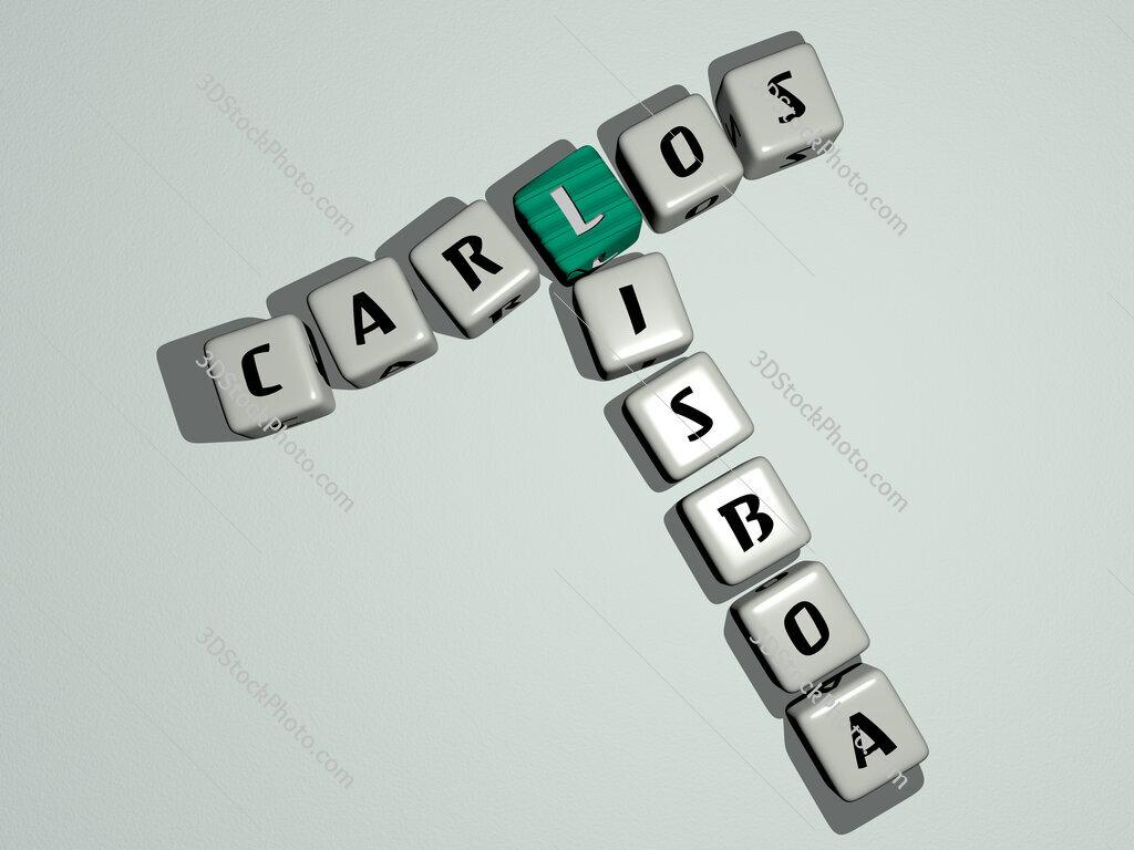 Carlos Lisboa crossword by cubic dice letters
