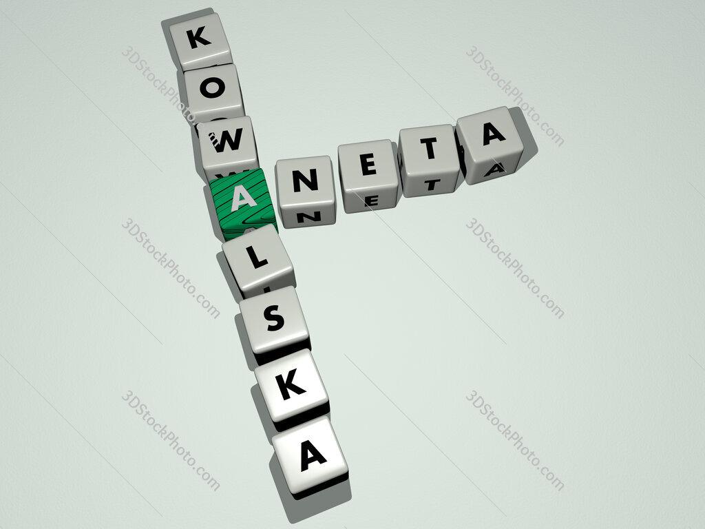 Aneta Kowalska crossword by cubic dice letters