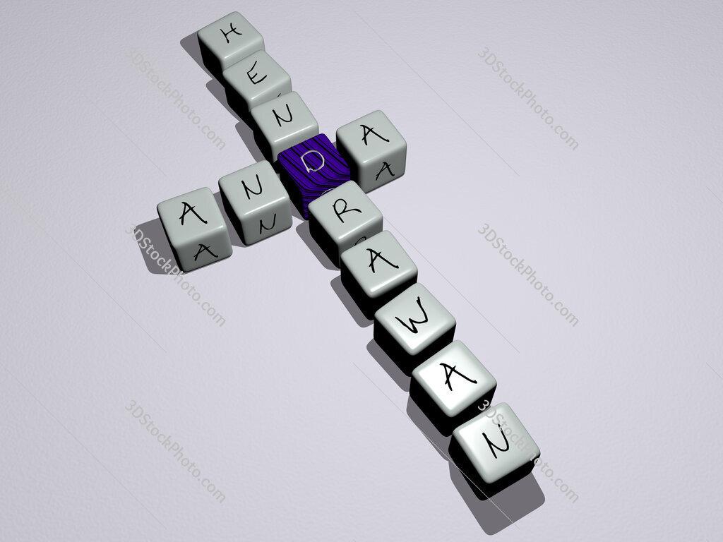 Anda Hendrawan crossword by cubic dice letters