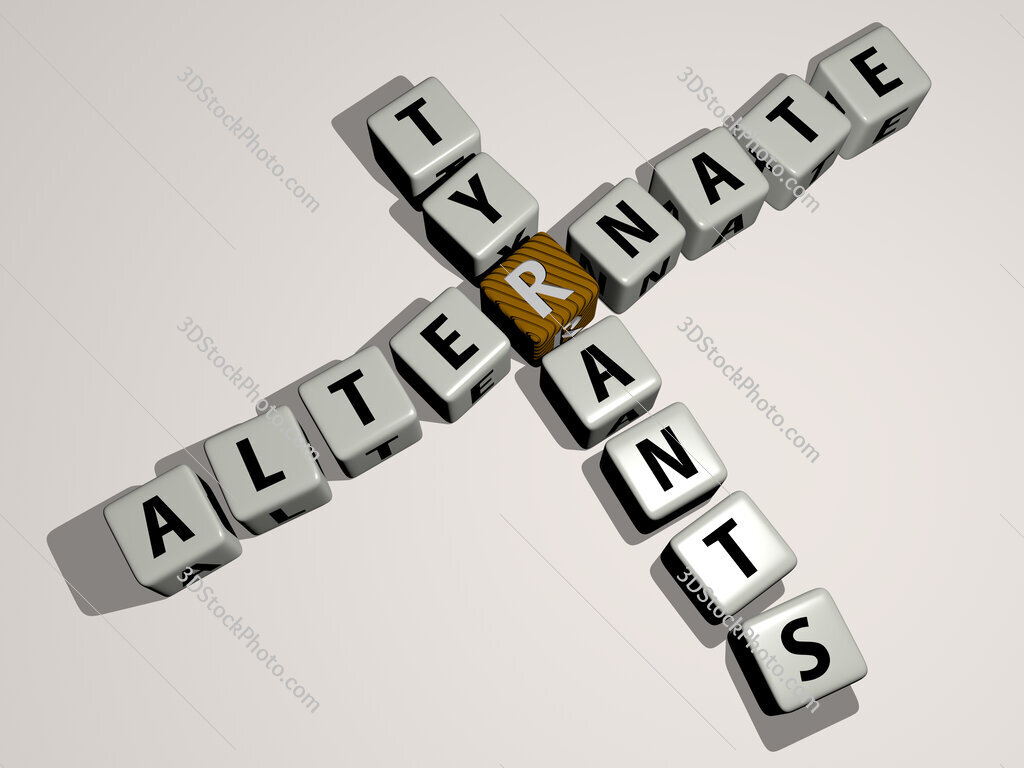 Alternate Tyrants crossword by cubic dice letters