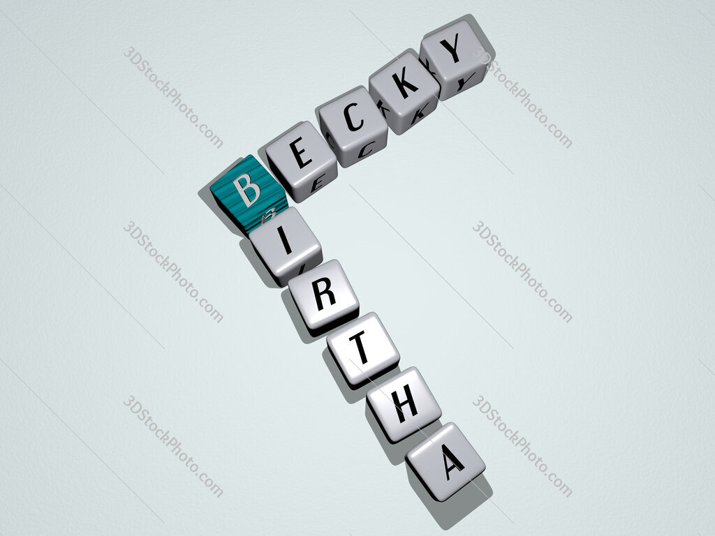 Becky Birtha crossword by cubic dice letters