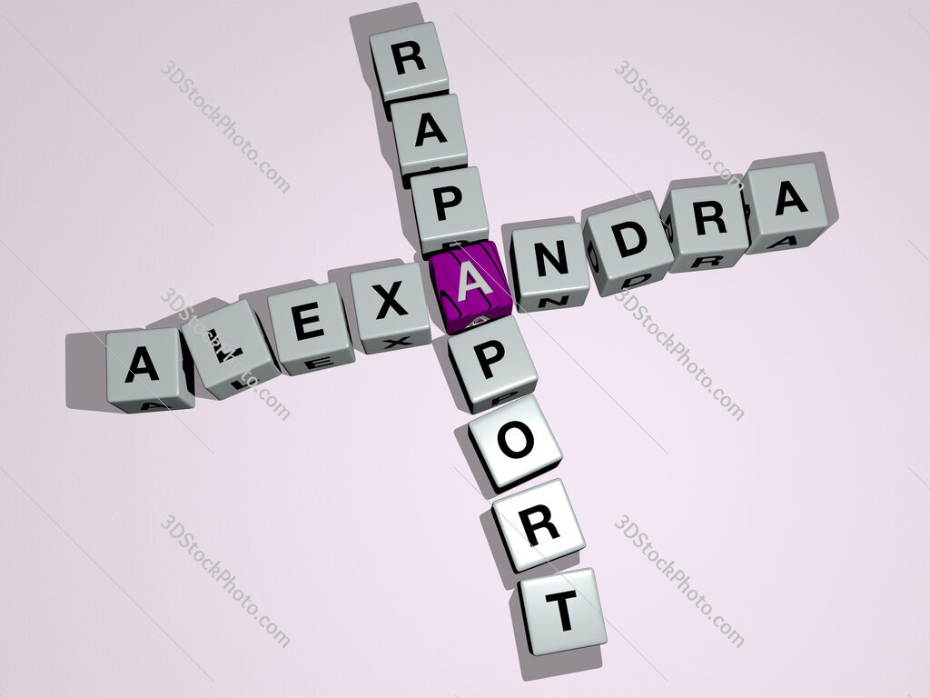 Alexandra Rapaport crossword by cubic dice letters